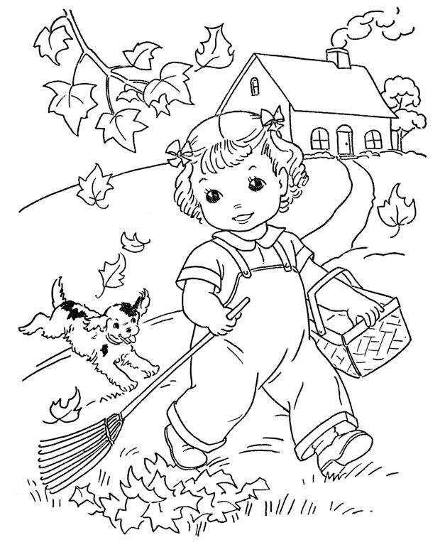Dibujos de Otoño para colorear e imprimir gratis