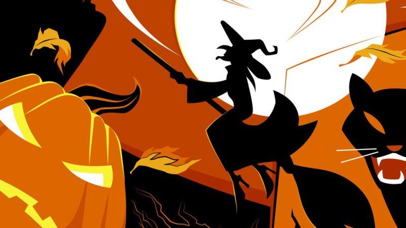 noche halloween fondos hd