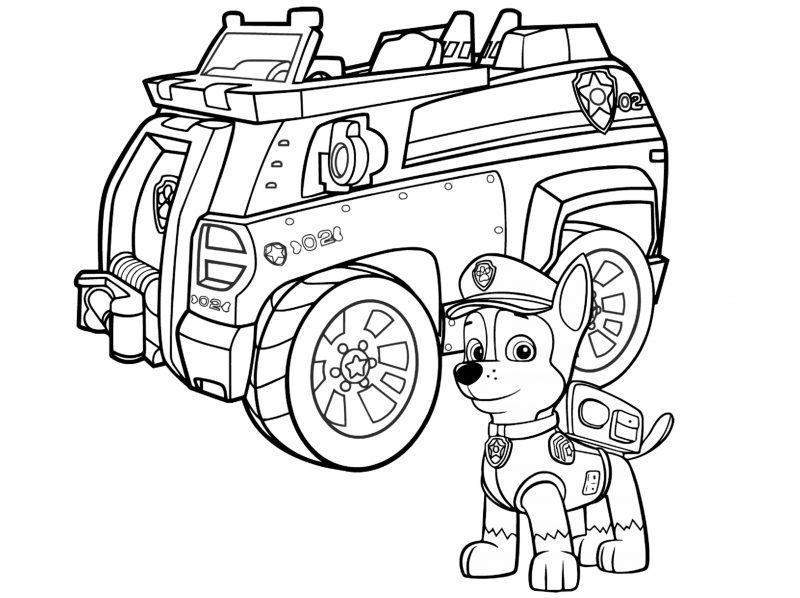 Kleurplaat Cars Red Dibujos De La Patrulla Canina Para Colorear Paw Patrol