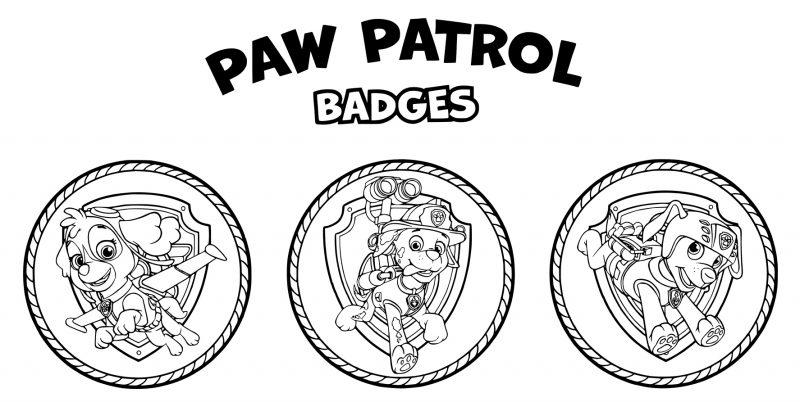Dibujos de PAW Patrol para colorear - Páginas para