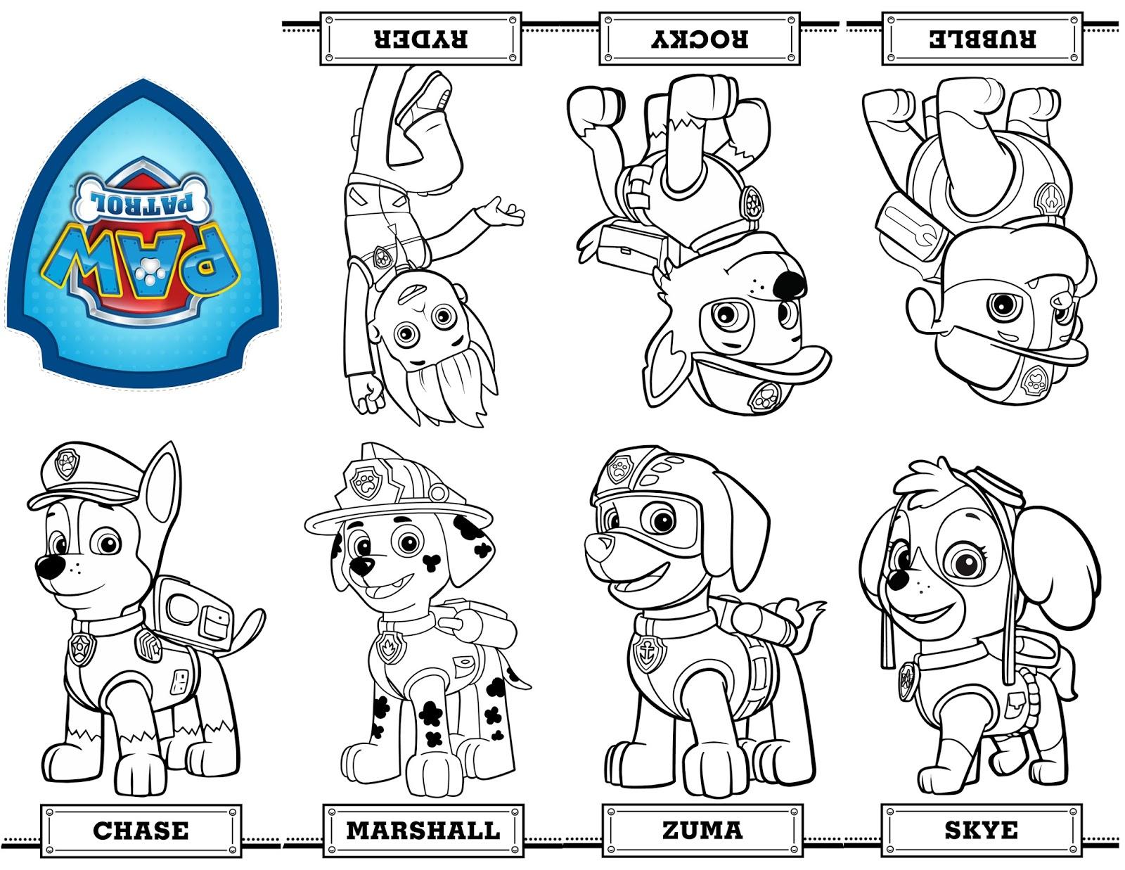 Paw Patrol Lookout Coloring Pages : Dibujos de la patrulla canina para colorear paw patrol