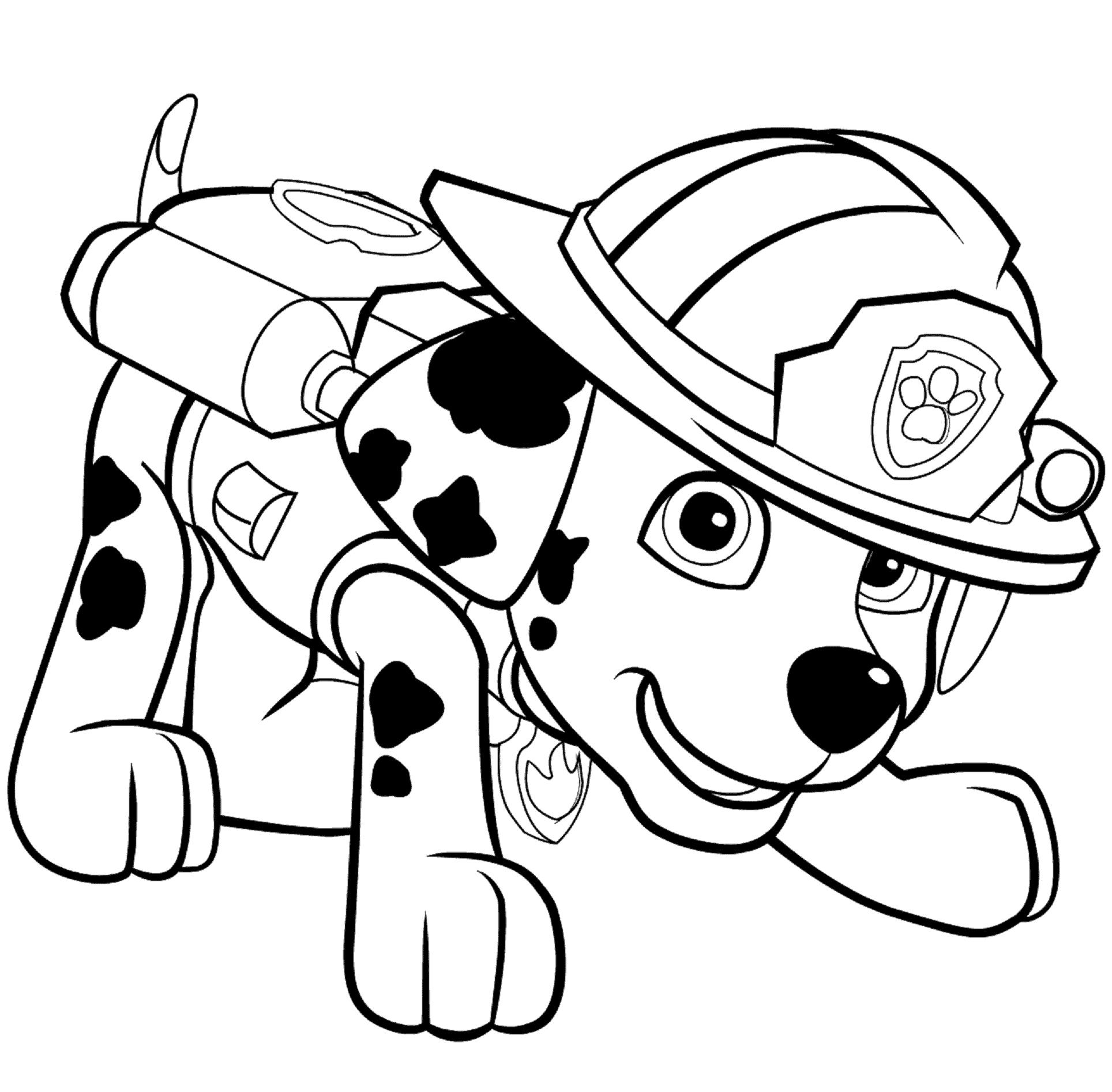 Dibujos de la patrulla canina para colorear paw patrol