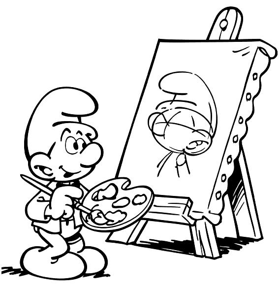 pitufo-pintor