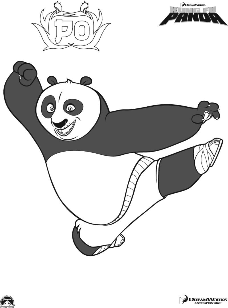 Dibujos de Kung Fu Panda para colorear