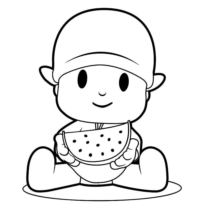 pocoyo-comiendo-fruta
