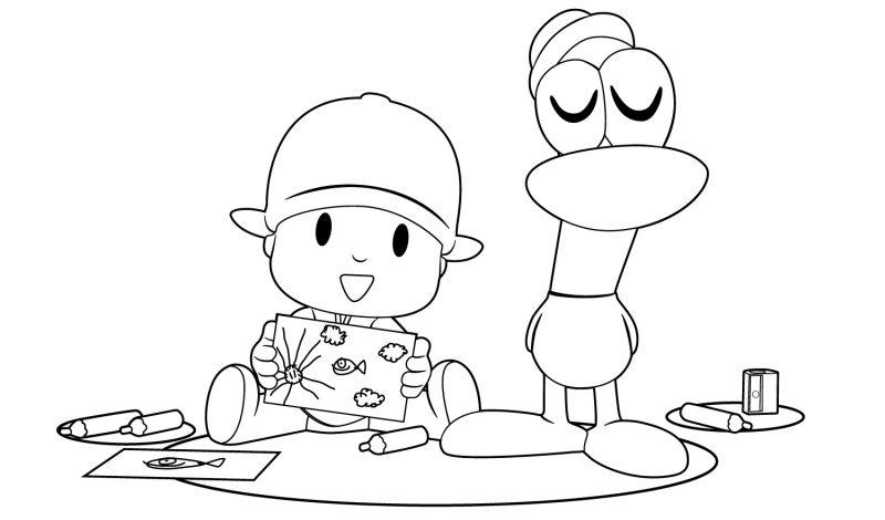 pocoyo-y-pato-haciendo-dibujos