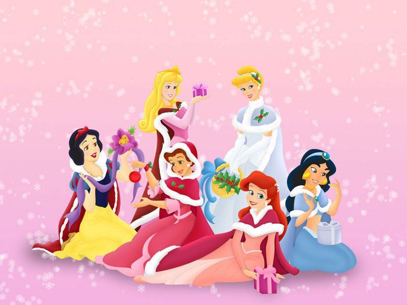princesas-disney-navidad-fondos
