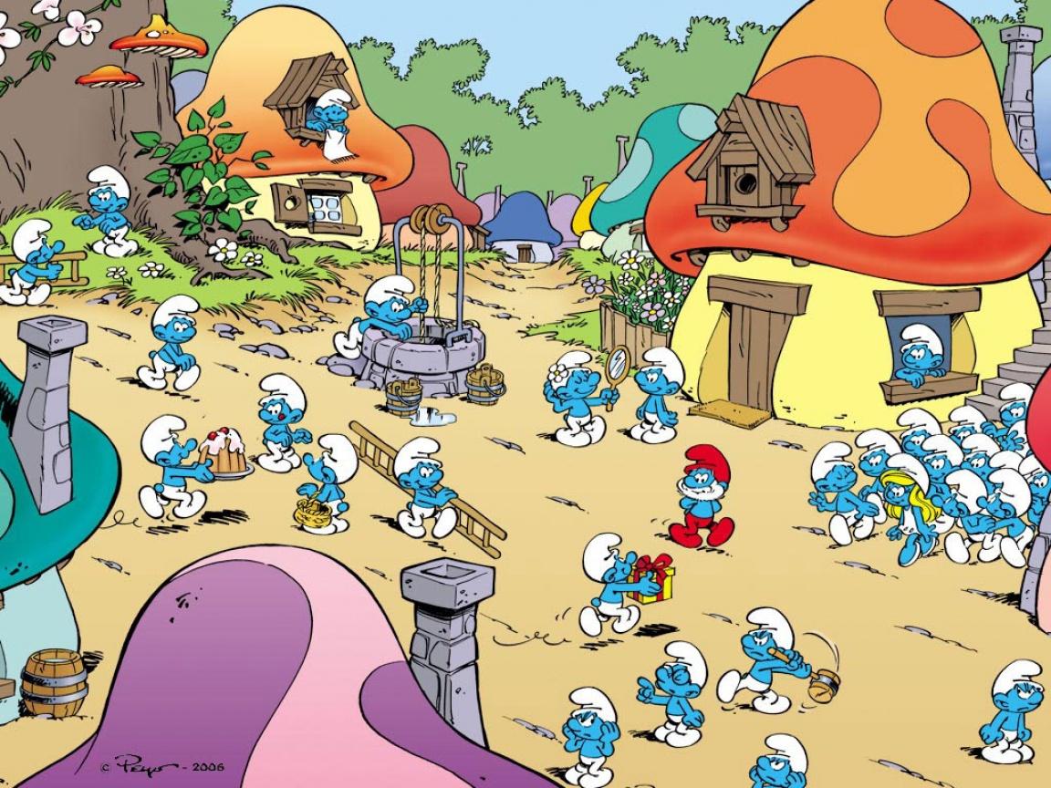 Im genes de los pitufos im genes serie dibujos animados the smurfs - Schtroumpf maison ...
