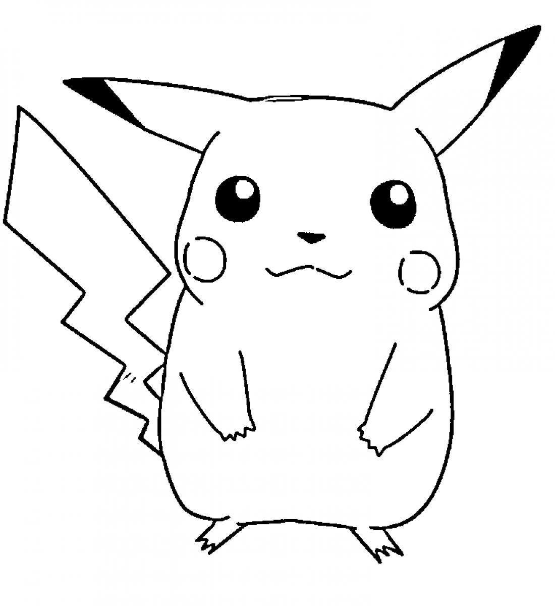 Dibujos de pikachu para colorear e imprimir gratis for Pikachu coloring pages printable