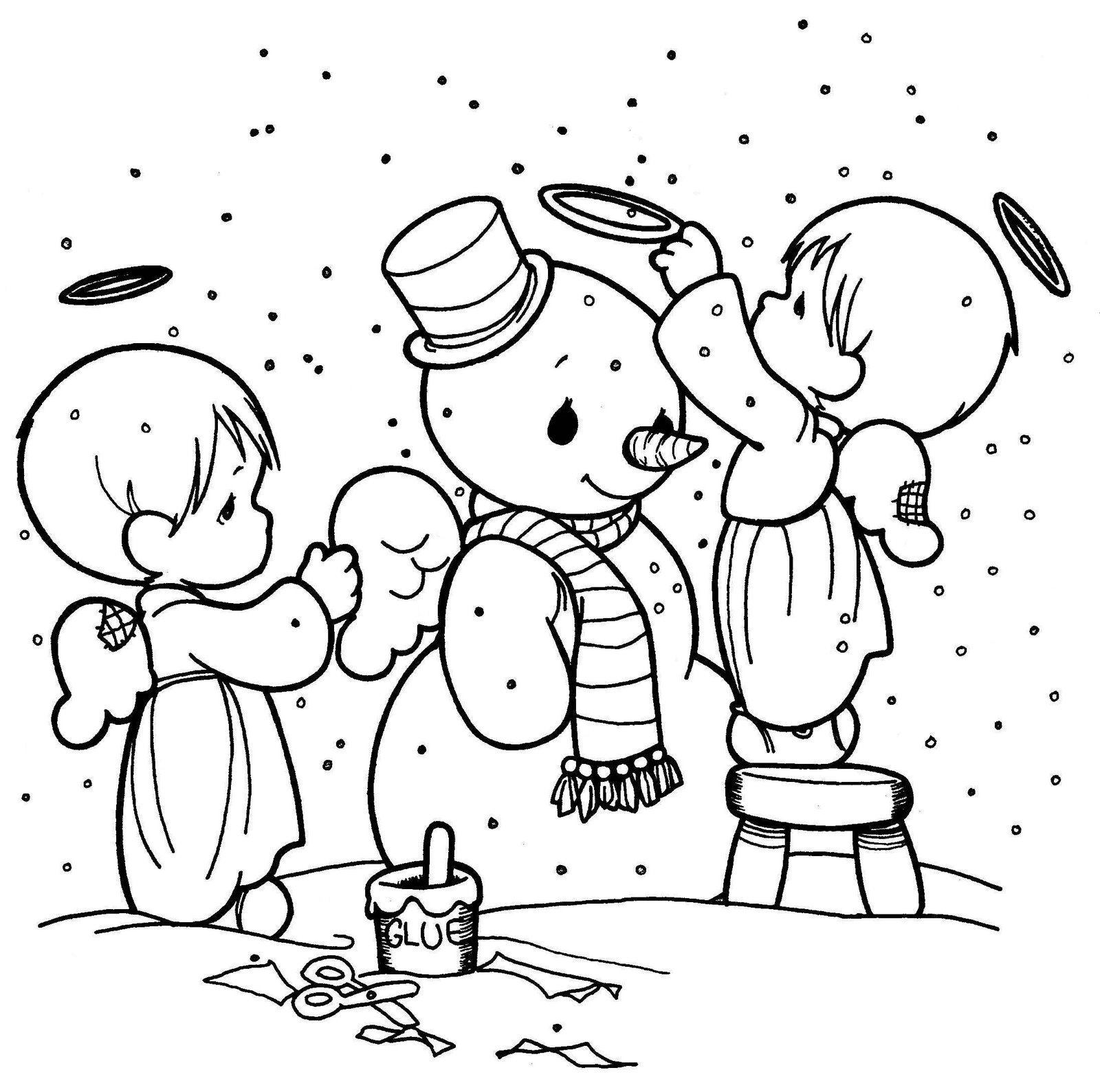 Dibujos de Navidad para colorear imgenes Navidad para imprimir