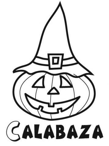 Dibujos halloween para colorear imprimir y recortar - Calabazas para imprimir ...