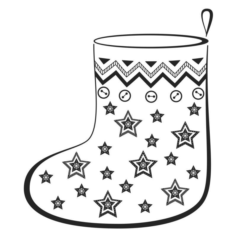 calcetin-adorno-navideno-para-pintar
