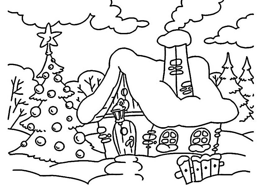 Dibujos de navidad para colorear im genes navidad para for In line painting