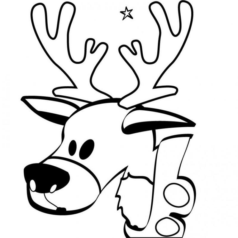 ciervo-navideno-para-pintar