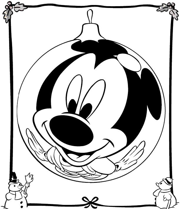 colorear-bola-navidad-mickey-disney
