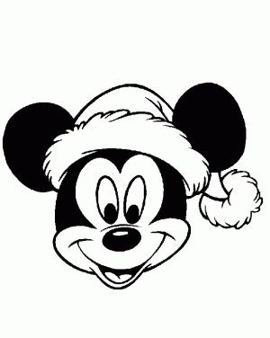 colorear-mickey-navidad