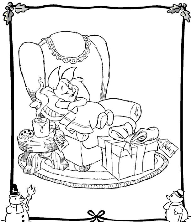 colorear-piglet-winnie-the-pooh-navidad