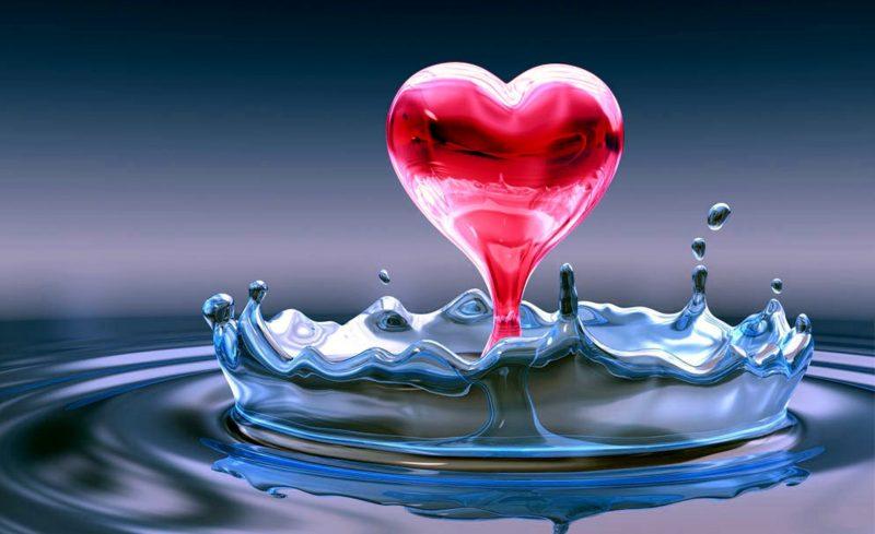 corazon-en-agua-wallpaper