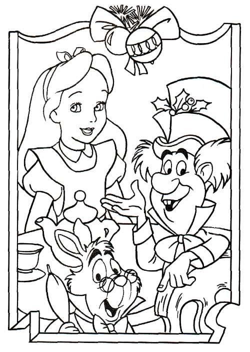 dibujos-alicia-en-el-pais-de-las-maravillas-navidad