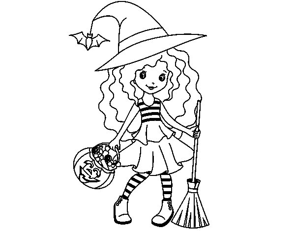 dibujos-brujas-para-colorear
