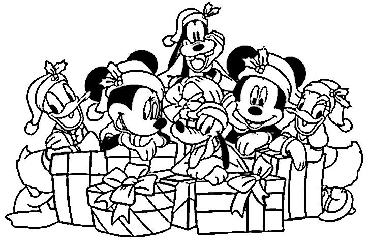 Para Colorear Disney: Dibujos Disney Navidad Para Colorear E Imprimir Gratis