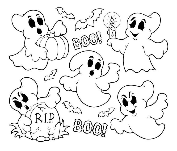 dibujos-fantasmas-halloween-para-colorear