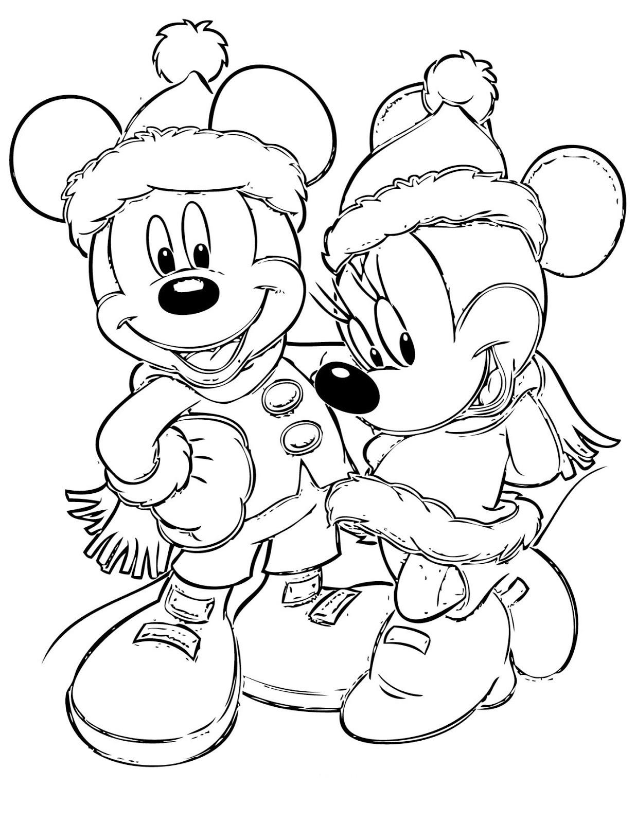 Dibujos disney navidad para colorear e imprimir gratis - Dibujos navidad en color ...