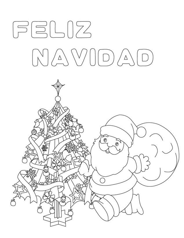 Dibujos de feliz navidad para colorear e imprimir im genes feliz navidad - Dibujos de navidad originales ...