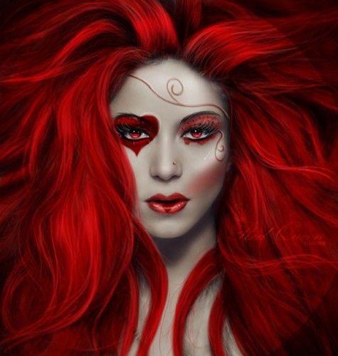 disfraz-reina-roja-maquillaje