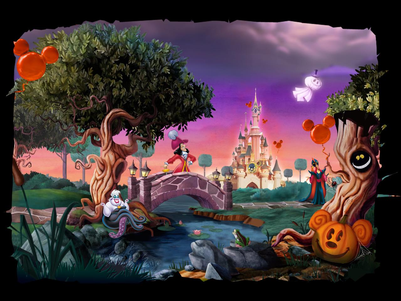 Fondos De Pantalla De Disney: Disney Halloween Wallpapers, Disney En Halloween