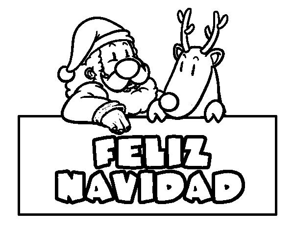 Dibujos de Feliz Navidad para colorear e imprimir, Imágenes Feliz ...