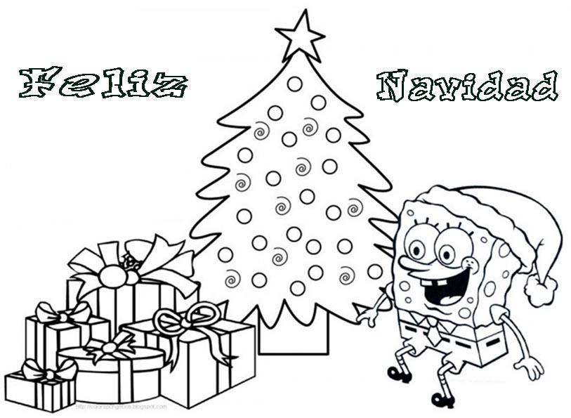 Dibujos de Feliz Navidad para colorear e imprimir, Imágenes Feliz