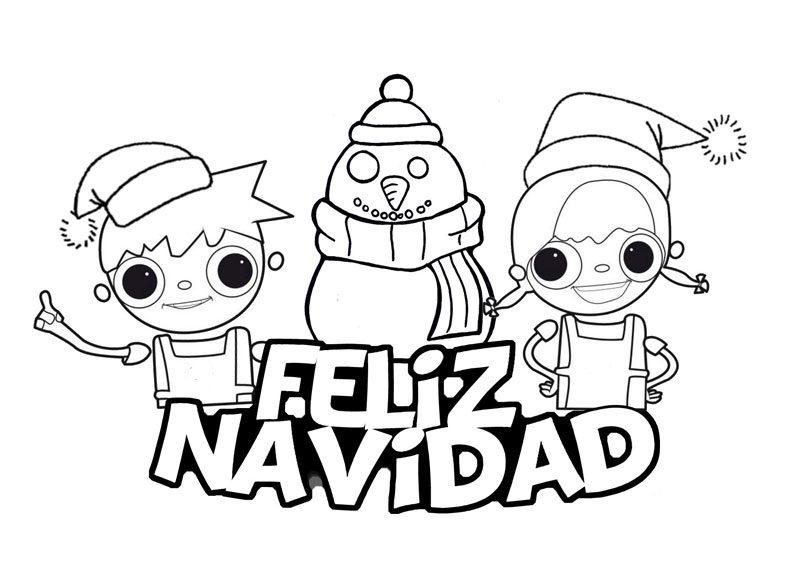 Dibujos de feliz navidad para colorear e imprimir - Imagenes para imprimir de navidad gratis ...