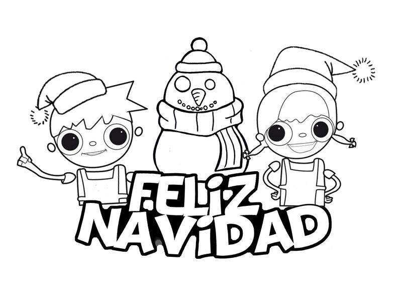 Dibujos Animados Para Colorear En El Ordenador: Dibujos De Feliz Navidad Para Colorear E Imprimir