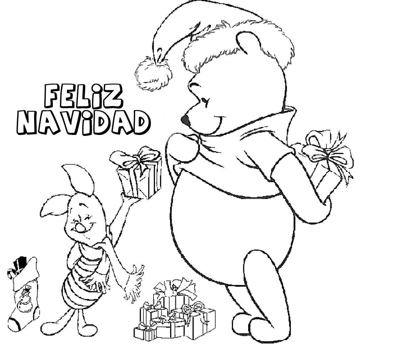 Dibujos de Feliz Navidad para colorear e imprimir