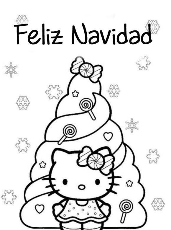 Dibujos de feliz navidad para colorear e imprimir - Laminas de navidad para colorear ...