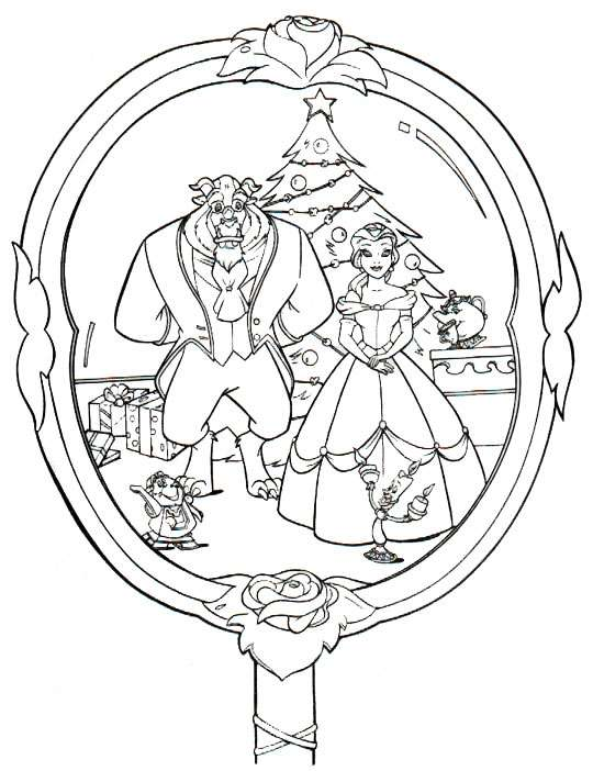 Dibujos Disney Navidad para colorear