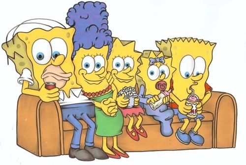 los-simpson-como-bob-esponja