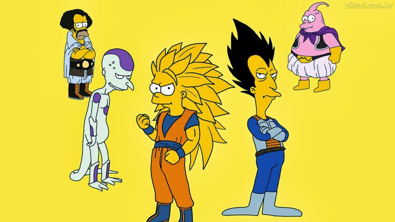 los-simpson-dragon-ball-z-halloween