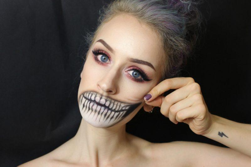maquillaje-cara-esqueleto