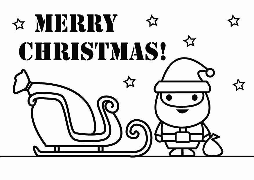Dibujos de Feliz Navidad para colorear e imprimir Imgenes Feliz