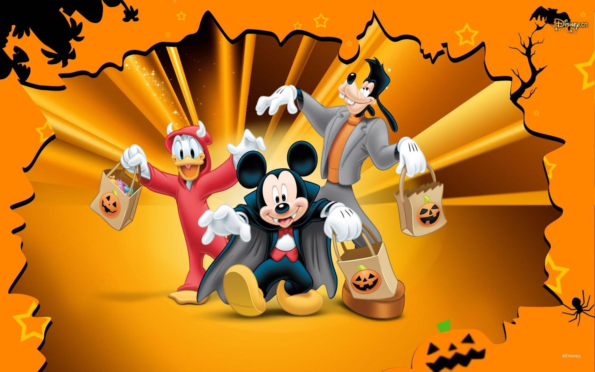 halloween,disney mickey,goofy,donald,halloween