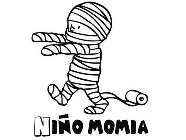 momia-para-colorear
