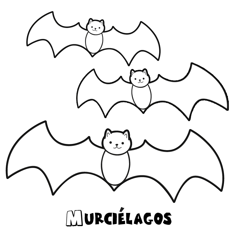 Dibujos halloween para colorear imprimir y recortar - Murcielagos para halloween ...