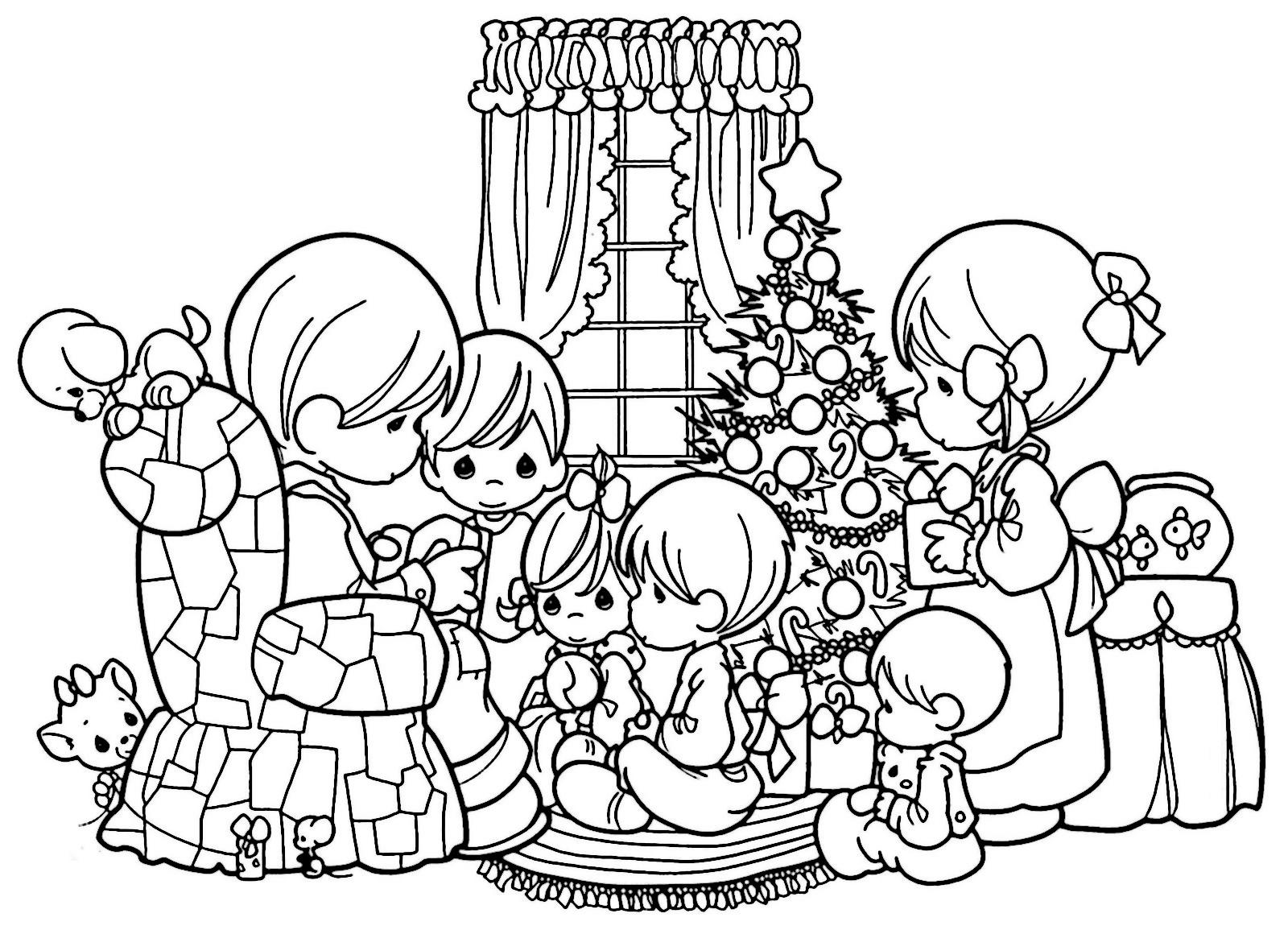 Imagenes Para Colorear De Niña: Dibujos De Navidad Para Colorear, Imágenes Navidad Para