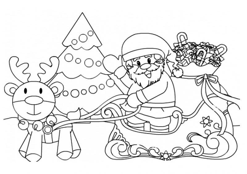papa-noel-en-navidad-con-regalos-para-pintar