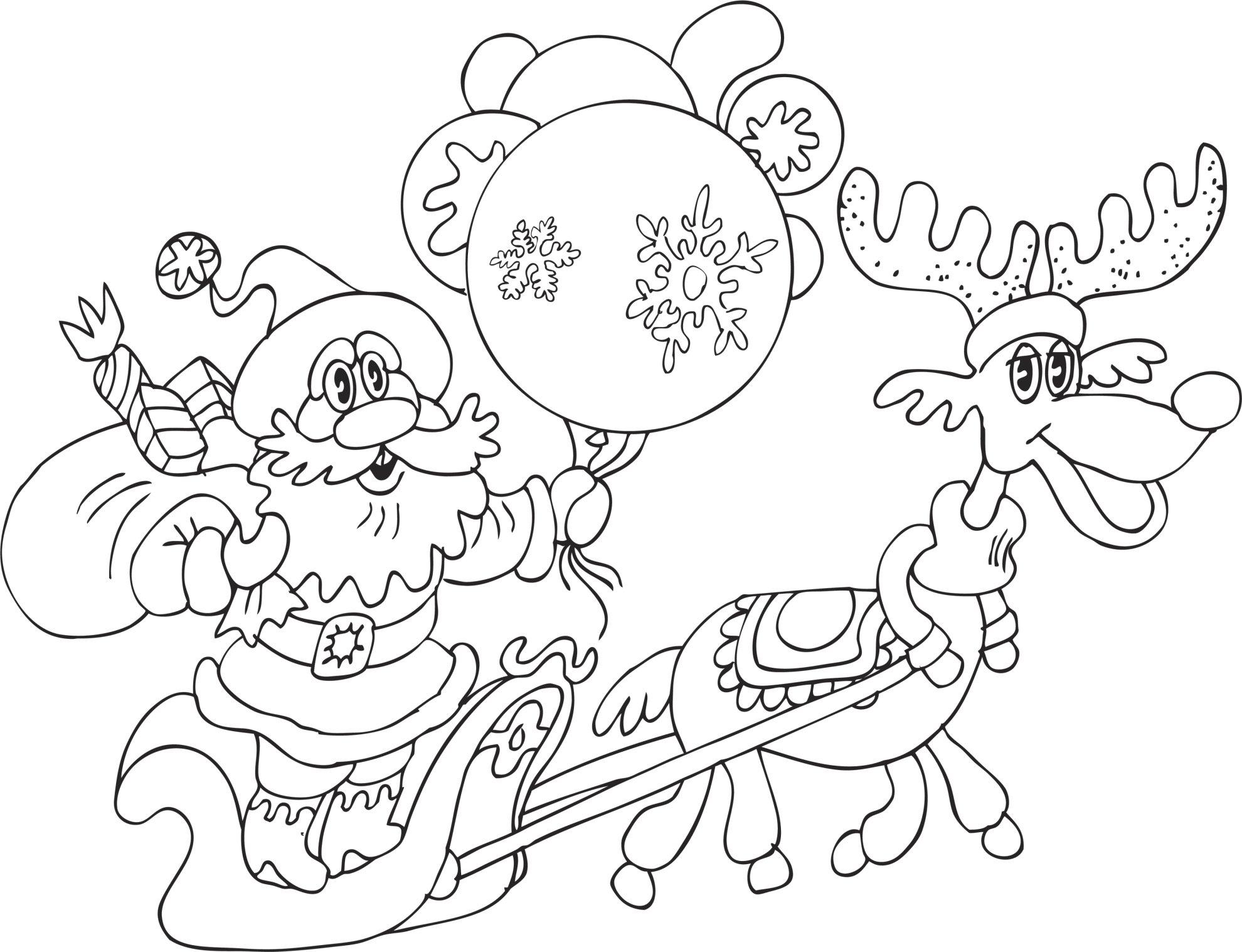 Niños Para Colorear E Imprimir: Dibujos De Navidad Para Colorear, Imágenes Navidad Para