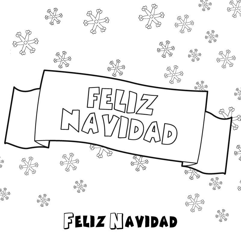 Spanish Christmas Coloring Pages Feliz Cumpleanos