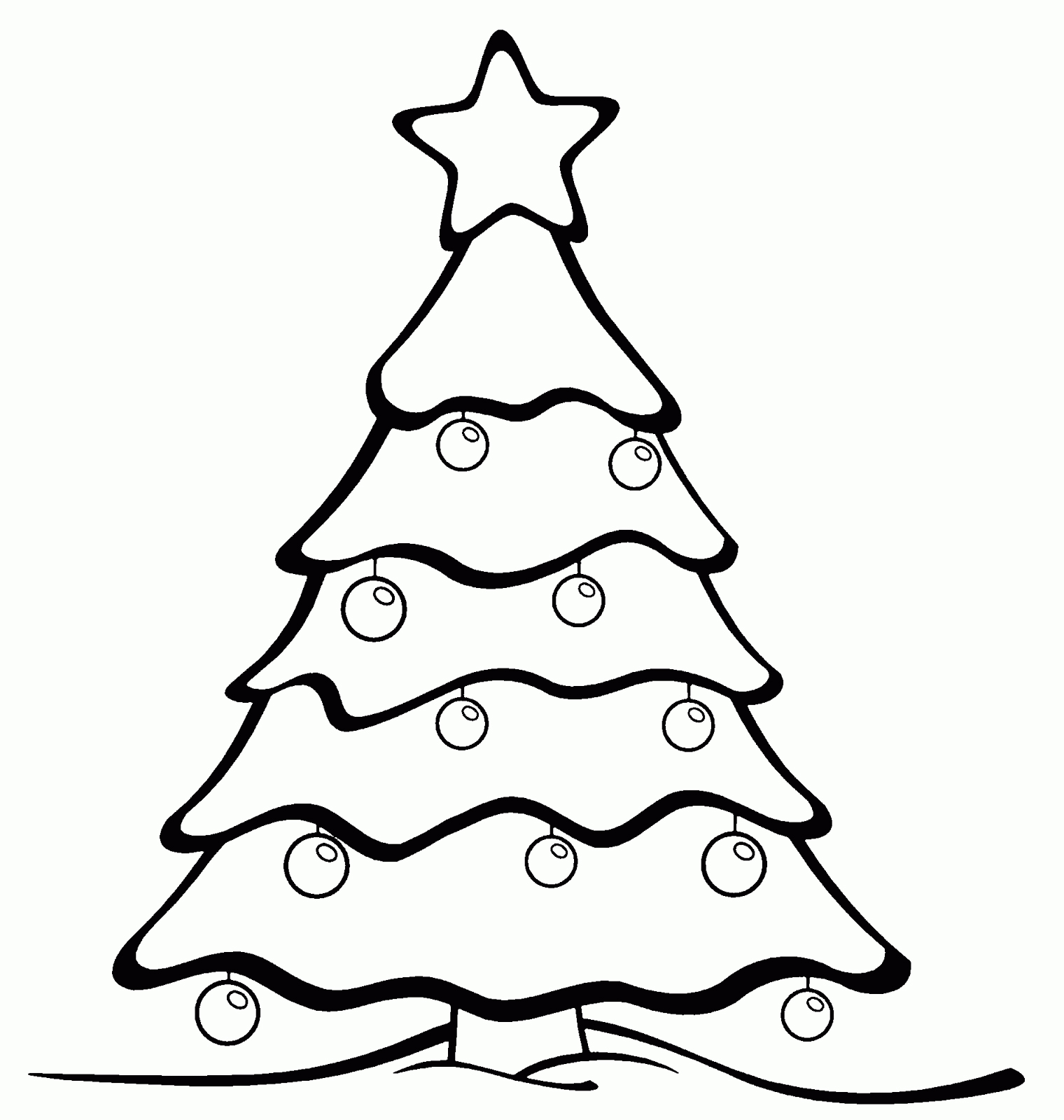 Dibujos de rboles de navidad para colorear e imprimir - Arboles de navidad colores ...