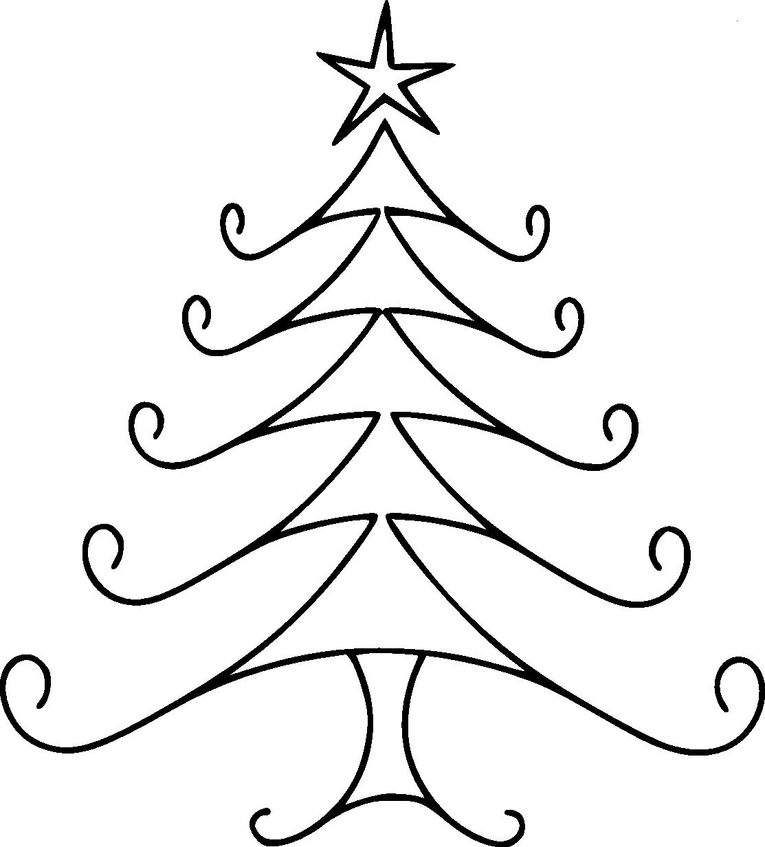 dibujos de  u00c1rboles de navidad para colorear e imprimir